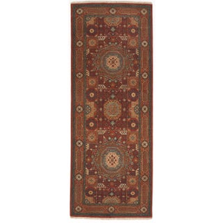 Hand-Knotted Indian Mamluk Runner-3'x8'