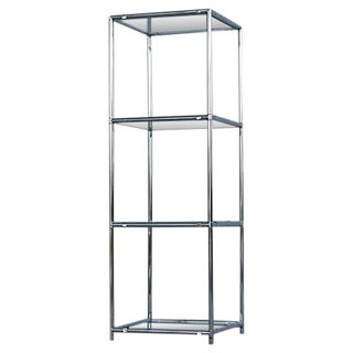 Mid-Century Four-Tier Chrome & Glass Etagere