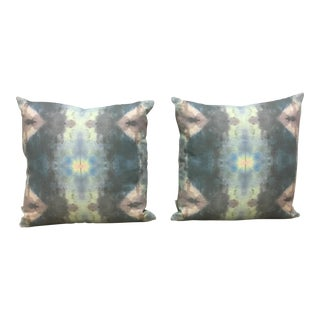 Boho Watercolor Style Pillows - A Pair