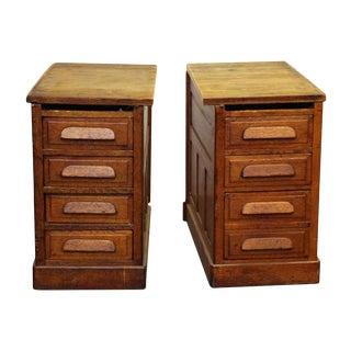 Side Oak Cabinets - A Pair