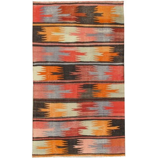 "Vintage Turkish Handwoven Kilim - 4'7"" x 8'3"""