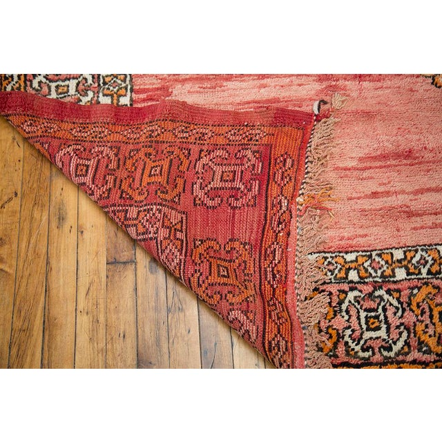"""Red Moroccan Taznakht Rug - 6'7"""" X 8' - Image 7 of 8"""