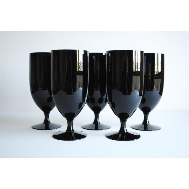 Black Fostoria Glasses - Set of 5 - Image 2 of 5