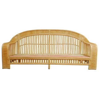Attributed to Ralph Lauren Bamboo Fan Back Sofa