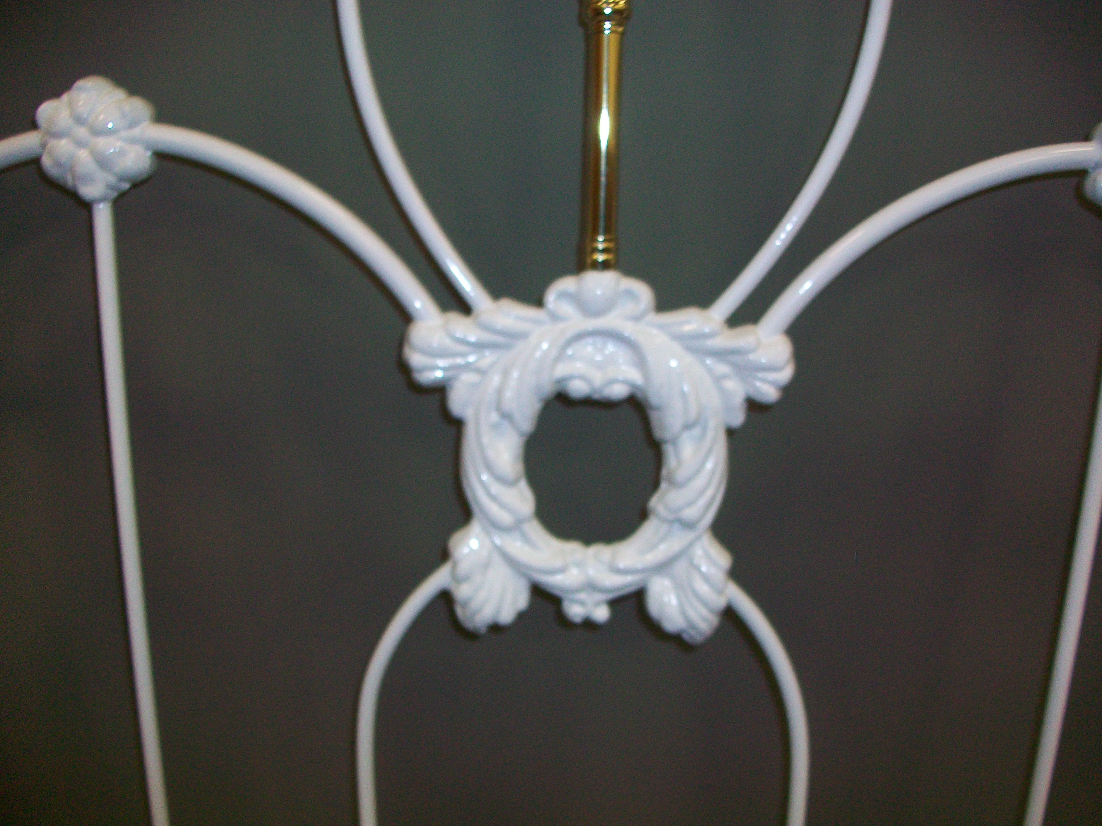 Victorian Style Queen White Iron Brass Headboard Chairish