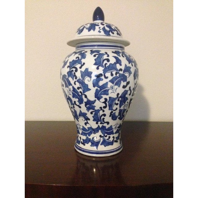 Blue & White Chinoiserie Ginger Jar - Image 4 of 4