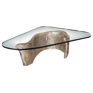 Bronze & Glass Coffee Table designed by Craig Van Den Brulle