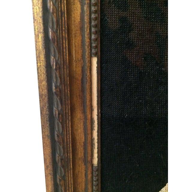 Vintage Needle Point Framed Art of Reading Lady - Image 4 of 5