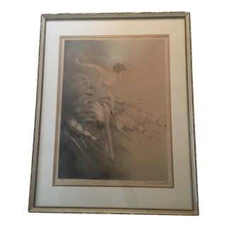 """Zest,"" Highly Collectible Art Nouveau Etching Original by Louis Icart"