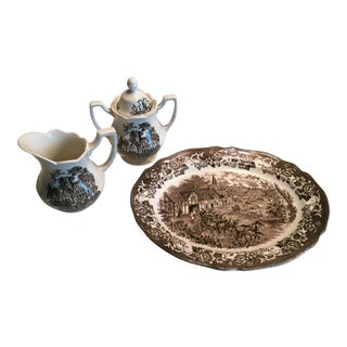 Royal Staffordshire Stratford Stage Brown Ironstone - Set of 3