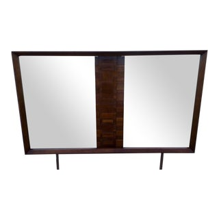 Lane Mid-Century Brutalist Style Mirror