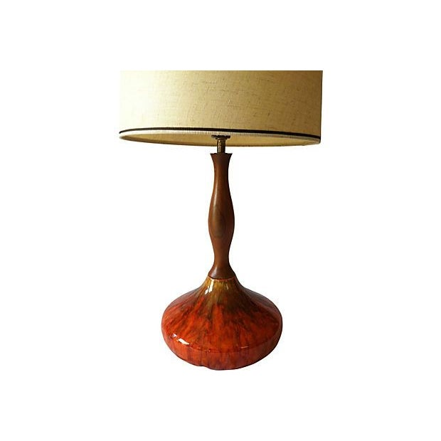 Sunburst Drip Glaze Table Lamp - Image 4 of 4