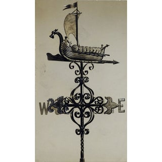 Viking Ship Weather Vane Design