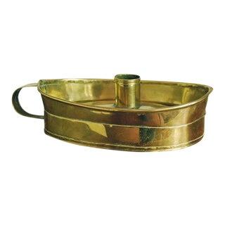 1800 Dutch Brass Chamberstick, Candleholder