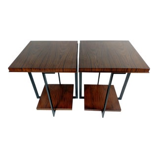 Troscan Walnut Side Tables - A Pair