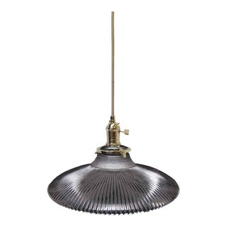 Saucer Holophane Pendant Light
