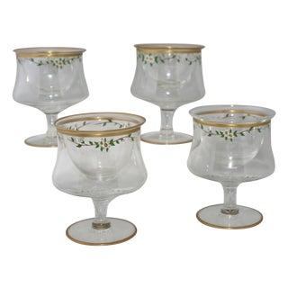 Vintage Footed Appetizer Glasses - Set of 4