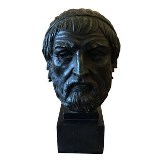 Antique Roman Bust Sculpture of a Philosopher