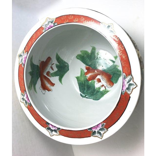 Chinoiserie jardiniere koi fish bowl planter chairish for Koi fish bowl