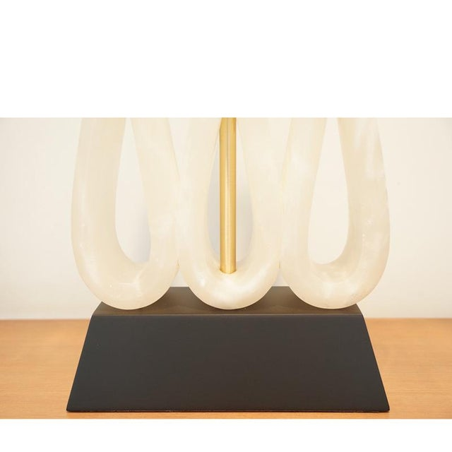 Alabaster Ribbon Lamp - Image 3 of 6