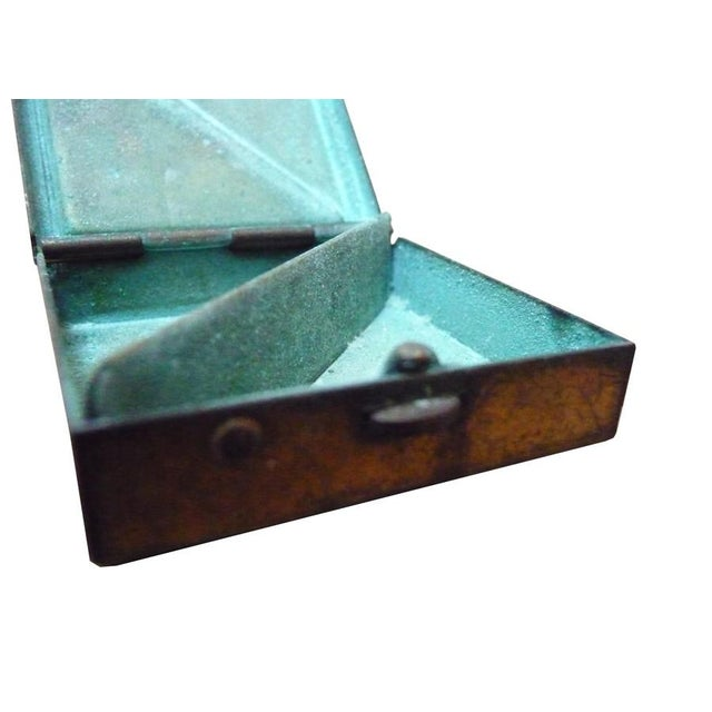 Vintage Brass & Mother of Pearl Pill Box - Image 4 of 5