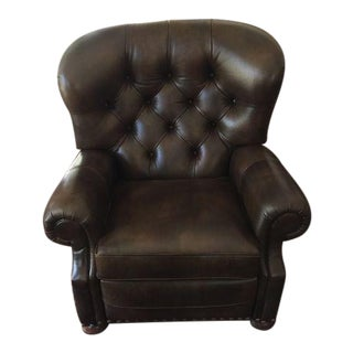 Ethan Allen Comwell Leather Recliner