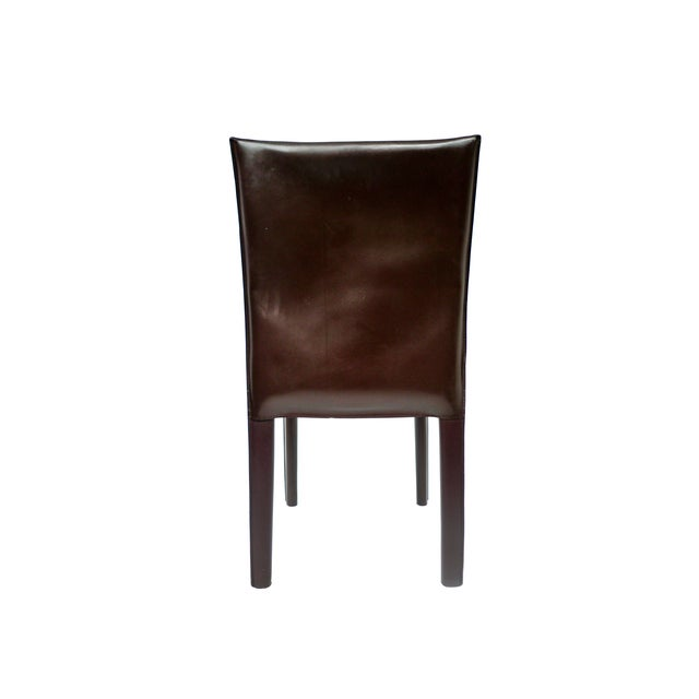 Image of Bellini-Style Leather Side Chairs - A Pair
