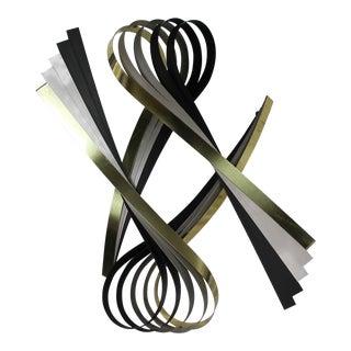 Vintage C. Jere Ribbon Wall Sculpture