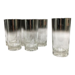 Mid-Century Silver Fade Tumblers - Set of 6