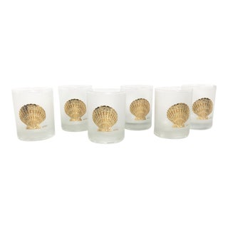 Culver Seashell Glasses - Set of 6