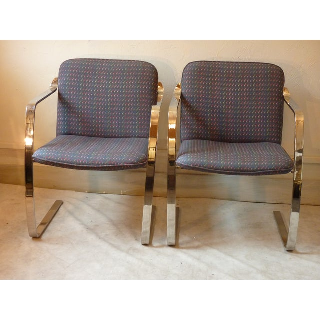 Modern Bruno Style Chairs - A Pair - Image 2 of 5
