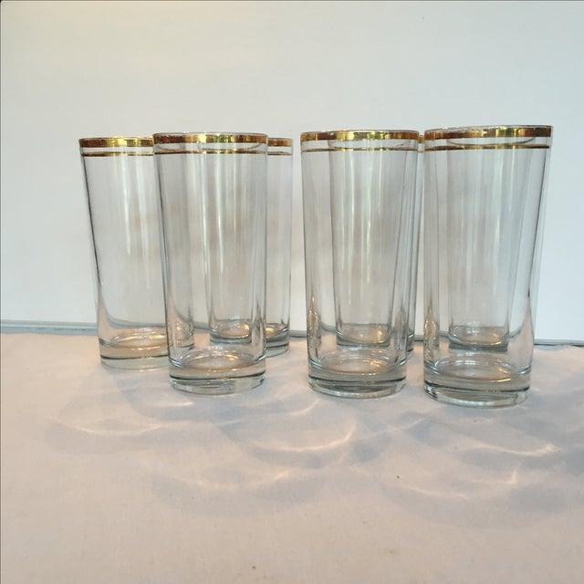 Gold Trimmed Glasses - Set of 7 - Image 5 of 10