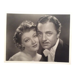 Original Myrna Loy & William Powell Photograph