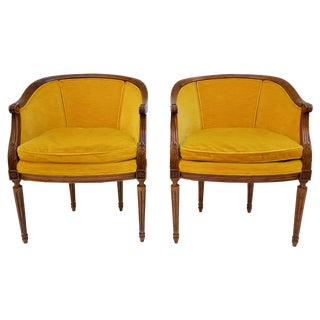 Heritage French Style Bergere Chairs - Pair
