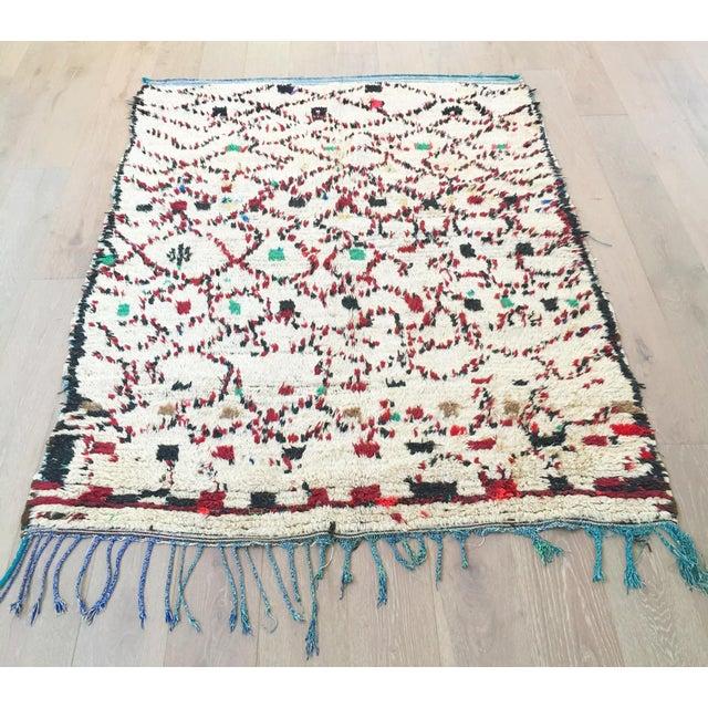 """Vintage Moroccan Wool Rug - 5' x 6'10"""" - Image 2 of 4"""
