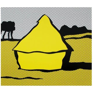 """Roy Lichtenstein """"Haystack"""" Silkscreen Print"""