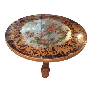 Vintage Italian Eglomise Chinoiserie Coffee Table