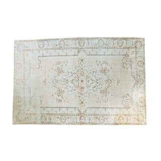 "Distressed Oushak Rug - 5'7"" X 8'5"""