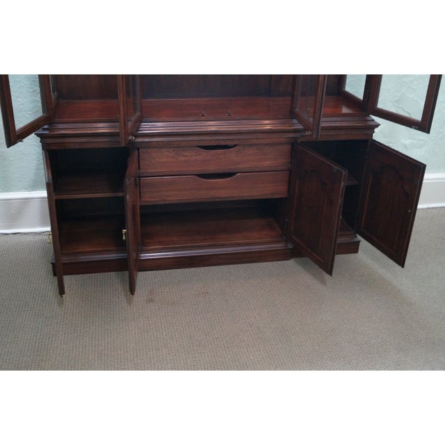 Harden Solid Cherry Chippendale China Cabinet - Image 5 of 10