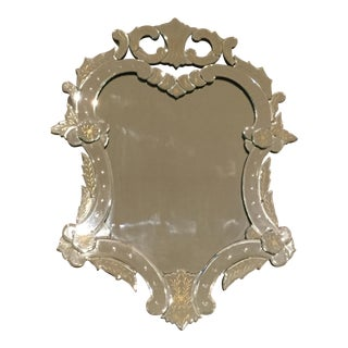 Antique Gold Leaf Detailed Mirror