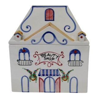 Vintage Italian Porcelain Lidded Box