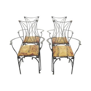 Wrought Iron Swoop Chairs - Set of 4