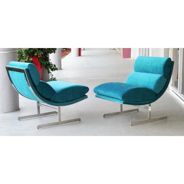 A Pair of Modernist Lounge Chairs by Kipp Stewart - Image 2 of 5