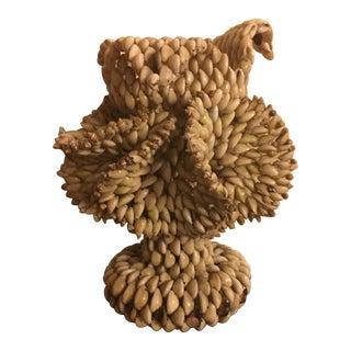 Handmade Shell Vase or Lamp Base