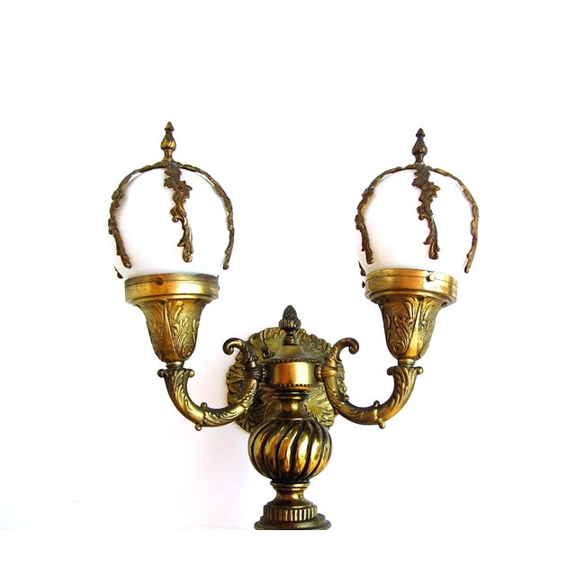 Antique Wall Sconce French Lamps Bronze - A Pair - Image 2 of 5