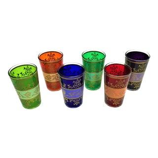 Moroccan Handpainted Tea Glasses - Set of 6