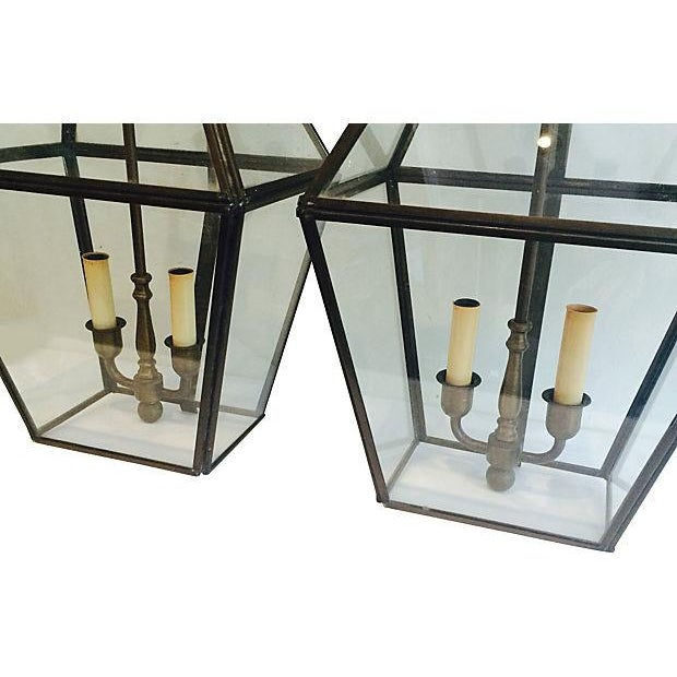 Brass Outdoor French-Style Lanterns - A Pair - Image 2 of 4