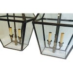 Image of Brass Outdoor French-Style Lanterns - A Pair