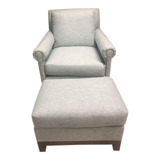 Hickory Chair Convento Lounge Chair & Ottoman Set