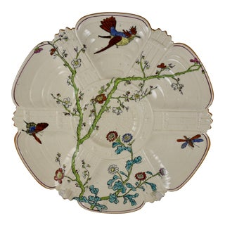 19th C. Copeland Earthenware Transferware Aesthetic Movement Oyster Plate